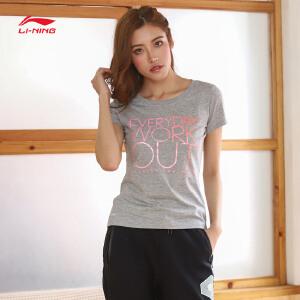 李宁短袖T恤女士新款运动生活系列速干凉爽运动衣短装夏季运动服AHSM192