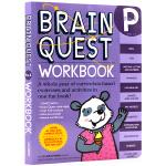 英文原版 Brain Quest Workbook Pre-K大脑任务低幼版英文原版 美国学前小学生全科练习 大奖