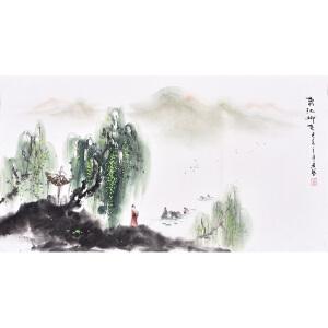 职业画家 黄老师《春江柳色》SS4533