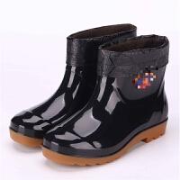 时尚低帮雨鞋雨靴防水鞋短筒男士耐磨厨房防滑胶鞋套鞋潮夏季