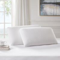 【人气】媲美 泰国进口乳胶枕芯枕套单人护颈舒睡橡胶枕头Telstar 40X70X13CM-800301