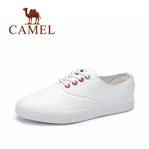 camel骆驼春季小白鞋 韩版时尚休闲鞋 舒适百搭系带单鞋