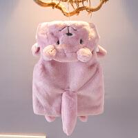 女童毛毛衣外套秋冬女宝宝背心小童马甲冬装上衣