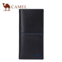 Camel/骆驼2017春季新款男士钱包牛皮长款青年钱夹男真皮韩版皮夹