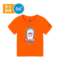 【大牌日�B券�A估�r:22】361度童�b 男童T恤2020年夏季新品�和�短袖上衣t恤薄款K51924206