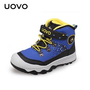 UOVO2017秋季新款儿童户外登山鞋男童运动鞋中童防水防踢耐磨防滑童鞋 比利牛斯