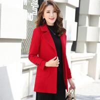 新品短款毛呢外套女2018秋冬装韩版修身显收加厚中款矮小个子呢子大衣