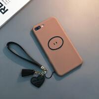 苹果Xs Max手机壳硅胶软套6sp情侣XR新款X潮男女ip7 6/6s 4.7寸(啡色)
