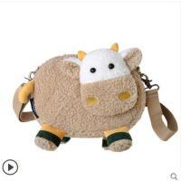秋冬新款卡通毛毛绒包可爱少女斜挎包羊羔毛小包包女