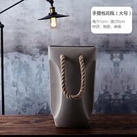 北欧家居软装饰品摆件 现代极简陶瓷花瓶花器客厅台面仿真花花插SN1932