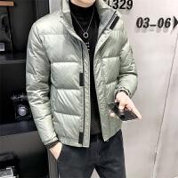 亮面短款休闲羽绒服男短简单百搭保暖冬款外套