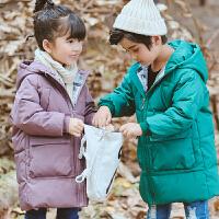 冬装儿童装棉衣男女童外套中长款