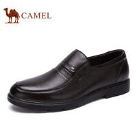camel骆驼男鞋 夏季商务休闲皮鞋 真皮牛皮鞋套脚舒适男士皮鞋