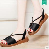 古奇天伦新款女鞋韩版平底学生鞋子女罗马鞋夏天平跟凉鞋8607