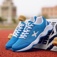 货到付款 2017韩版夏季运动鞋男网面透气跑鞋轻便软底男士跑步鞋健身鞋网鞋青少年学生户外鞋
