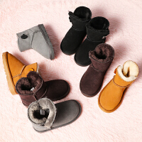 儿童冬季加绒男童保暖雪地棉童鞋