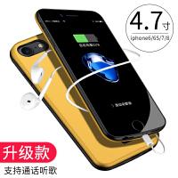 iphone7背夹式充电宝苹果6S电池plus专用8超薄6P手机壳一体移动电源iphoneX便携 6/6S/7/8 柠