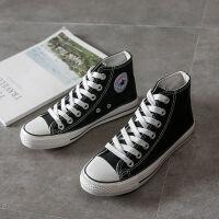 高帮帆布鞋男学生韩版平底鞋休闲鞋布鞋男板鞋女帆布鞋学生鞋