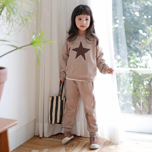 时尚星星印花卫衣套装童装中小童套装秋冬季童套装