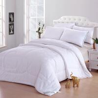[当当自营]兰祺家纺棉花被 纯棉被子 加厚冬被 学生宿舍被芯 白色牡丹花1.5*2米