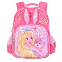 芭比公主书包 女孩双肩包 0453休闲包 可爱卡通粉色背包 夜光包