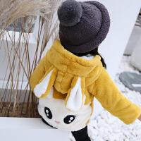 女童秋冬装毛毛外套女宝宝小女孩衣服洋气上衣潮