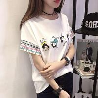 韩国女装新学生短袖T恤 闺蜜装夏季宽松半袖体恤民族风上衣