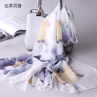 春秋季丝巾女围巾长款秋冬季披肩