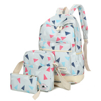 2017韩版潮双肩包女印花时尚女包两件套子母包学院风书包旅行背包 nn-wm-2108