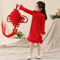 女童秋装旗袍长袖儿童装唐装中国风修身礼服冬款