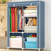 布衣柜 加固钢架衣橱单人简易组装衣服收纳柜抖音同款