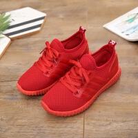 老北京布鞋女鞋透气单鞋休闲运动情侣跑步小红鞋网面学生运动网鞋 红色 888 男鞋