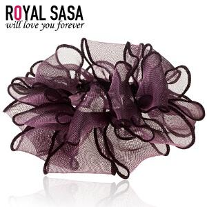 皇家莎莎RoyalSaSa韩国头饰发圈皮筋手工发饰扎头发头绳女韩版蕾丝头花