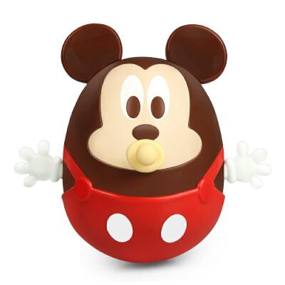 【三处啃咬点 发泄不倒翁】迪士尼DISNEY婴幼儿童米奇/米妮牙胶不倒翁出牙安抚可爱宝宝玩具