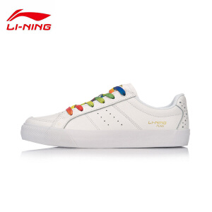 李宁休闲鞋女鞋运动时尚系列耐磨防滑滑板鞋运动鞋AGCM134
