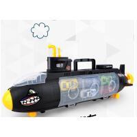 儿童玩具车滑行鲨鱼军舰潜水艇收纳合金小汽车套装军事