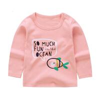 宝宝T恤长袖纯棉男童女宝宝上衣秋冬款婴儿秋衣儿童0-1-3岁打底衫
