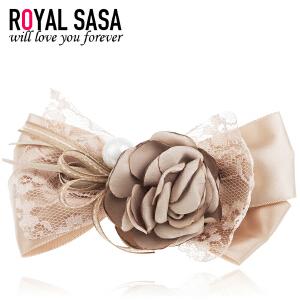 皇家莎莎RoyalSaSa发夹发饰韩国发卡顶夹花朵弹簧夹女头饰韩版盘发卡子头花