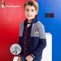 【3件4折后到手价:182.08元】暇步士童装男童冬季新品开身针织衫中大童上衣儿童针织外套