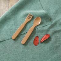 米鹿儿童勺叉孕婴用品稻壳餐具可代替密胺餐具产品