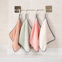 【支持礼品卡支付】可挂式珊瑚绒擦手巾厨房清洁巾不掉毛吸水抹布洗碗布清洁布