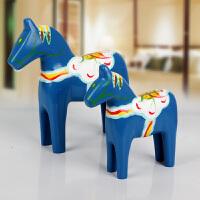 欧式达拉红木马摆件木质手绘套装木马 婚庆家居装饰品儿童节礼物