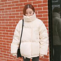 冬季2018冬季新款韩版bf宽松面包服白色时尚羽绒服女短款韩国 均码