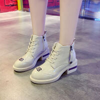 秋季鞋子女学生韩版马丁靴ins女春秋款短靴单靴英伦风漆皮皮鞋女