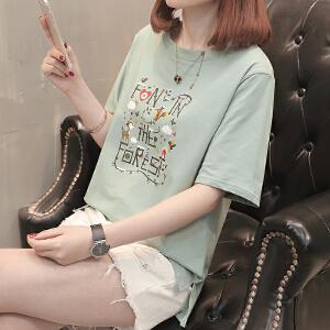 短袖t恤女韩版衣服夏装新款打底体恤衫短袖上衣女