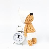 全织时代手作毛线玩偶成品睡眠宝宝男纯手工钩针编织公仔人偶摆件