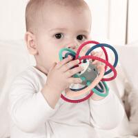 【可水煮 升级版】蓓臣 曼哈顿牙胶手抓球0-1岁婴儿安抚玩具