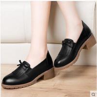 莫蕾蔻蕾小皮鞋女学院英伦风春新款女鞋复古粗跟单鞋鞋子女冬百搭韩版6Q350S