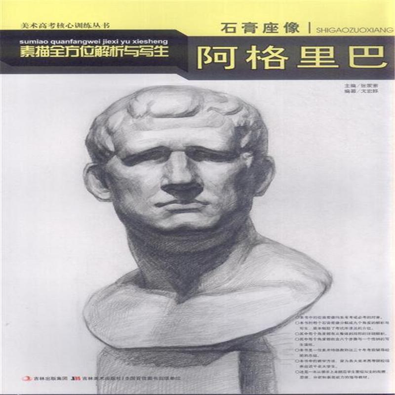 阿格里巴-素描全方位解析与写生-石膏座像