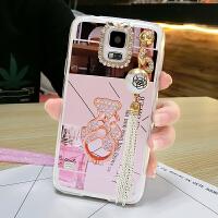 三星S5手机壳galaxy全包边5s保护套硅胶软卡通可爱挂绳潮女款